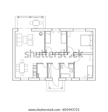 House Plan 2d Stock Images Royalty Free Images Vectors