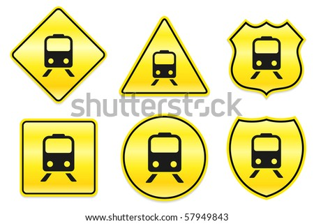 Subway Icon on Yellow Designs Original Illustration - stock vector