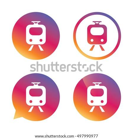 Subway Sign Icon Train Underground Symbol Stock Vector 2018