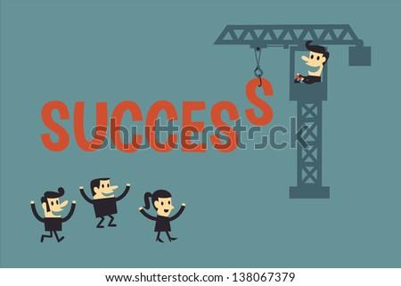 Success - stock vector