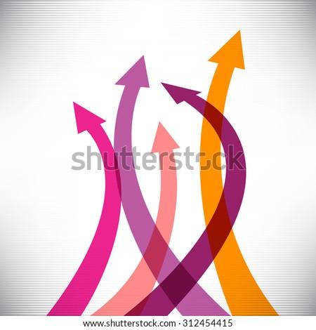 Success arrows creative background  - stock vector