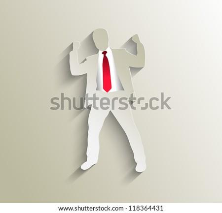success business man, conceptual business vector illustration. - stock vector