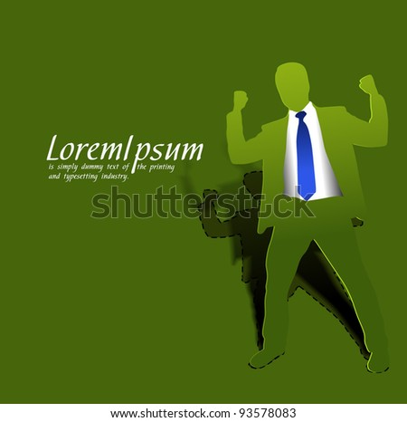 success business man, conceptual business vector illustration. - stock vector