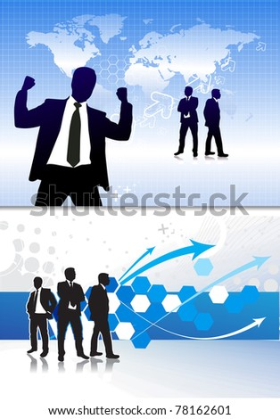 Success business people, conceptual business illustration. - stock vector