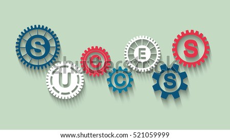 success concept with gears