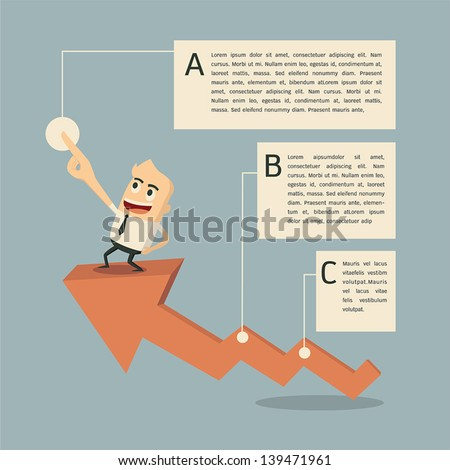 Success graph iinfographics - stock vector