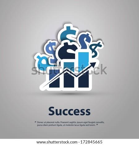 Success - Graphic Design Concept - stock vector