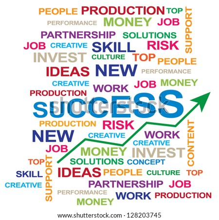 success graphic isolated on white  - stock vector