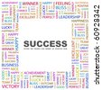 SUCCESS. Word collage on white background. Illustration with different association terms. - stock photo