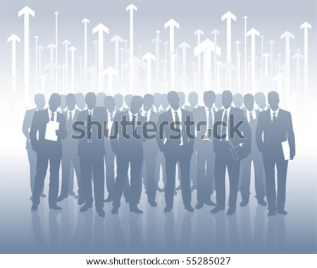 successful business team - stock vector