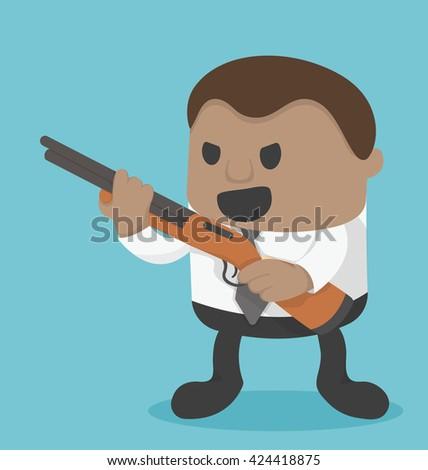 successful businessman with an idea. - stock vector