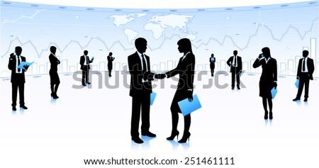 Successful partnership - stock vector