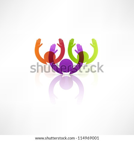 Successful team icon. - stock vector