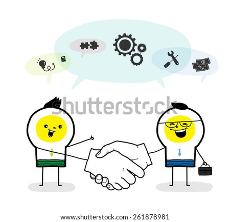 Successful trading - stock vector