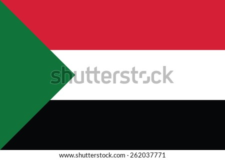 Sudan flag - stock vector