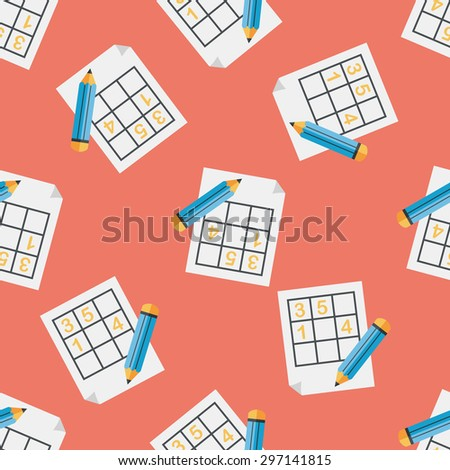 Sudoku flat icon,eps10 seamless pattern background