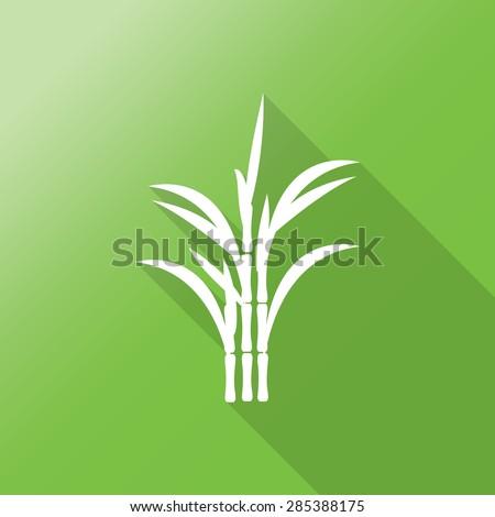 sugar cane flat icon with long shadow