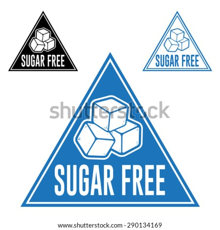 Sugar Free Triangle Icon - stock vector