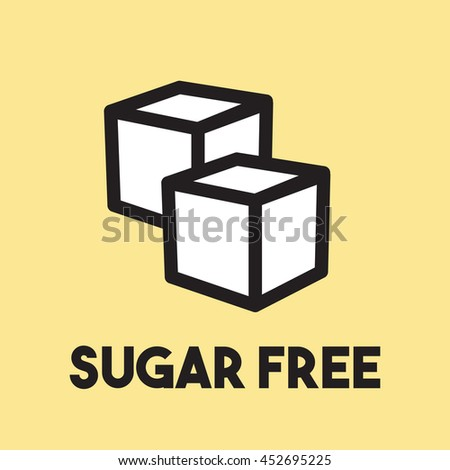Sugar free vector icon