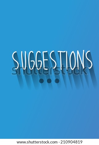 suggestions typo with shadow vector - stock vector