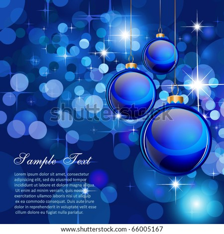 Suggestive Elegant Christmas Backgrounds with Stunning Baubles and Glitter elements - stock vector