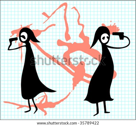 suicidal background - stock vector
