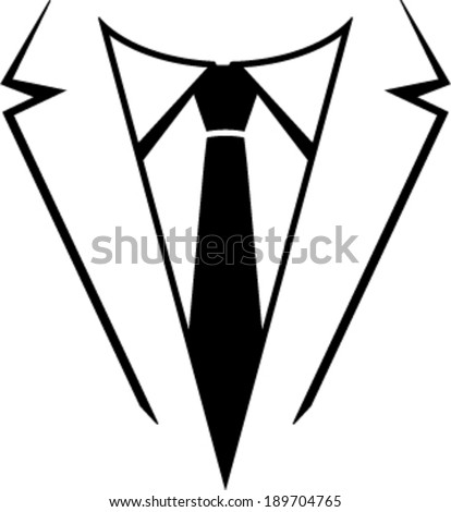 Suit and tie vector