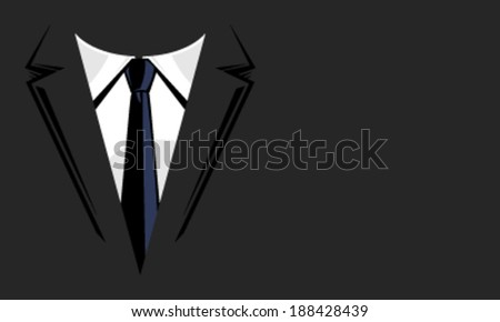 Suit and tie vector background