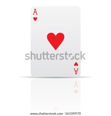 Suit diamonds card isolated on white - stock vector