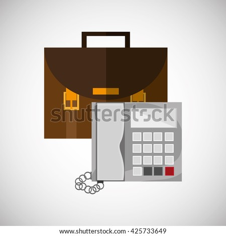 suitcase design. office icon. Isolated illustration
