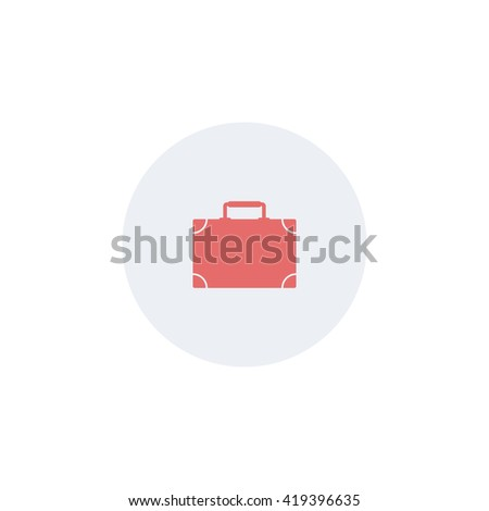 Suitcase icon. - stock vector
