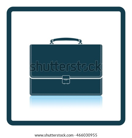 Suitcase icon. Shadow reflection design. Vector illustration.