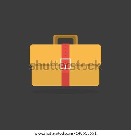 Suitcase - Vector icon - stock vector