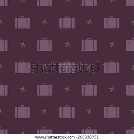 suitcases pattern - stock vector
