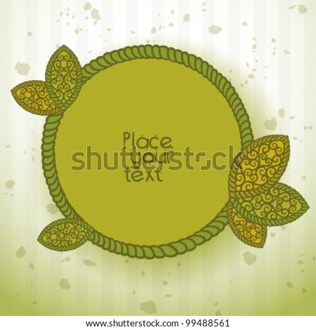 summer Abstract floral background with place for your text 3 - stock vector