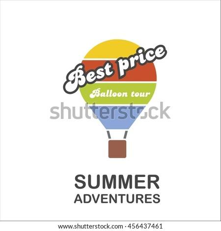 Summer adventure with a balloon - stock vector