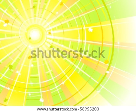 Summer-Autumn background, all parts closed, editing is possible. Vector illustrations. - stock vector