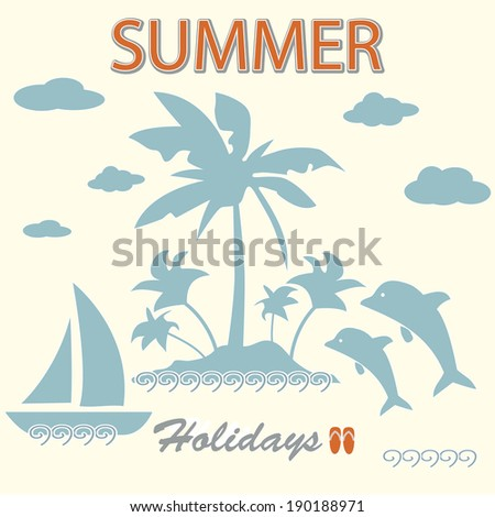 Summer background. Card