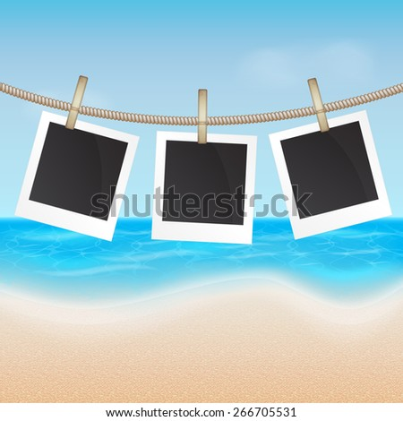 Summer background. Tropical sea and beach. EPS10 vector