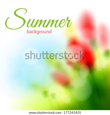 Summer background. Vector illustration. - stock vector