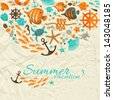 Summer background. Vector Illustration, eps10, contains transparencies. - stock vector