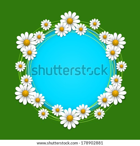Summer background with daisy, vector illustration