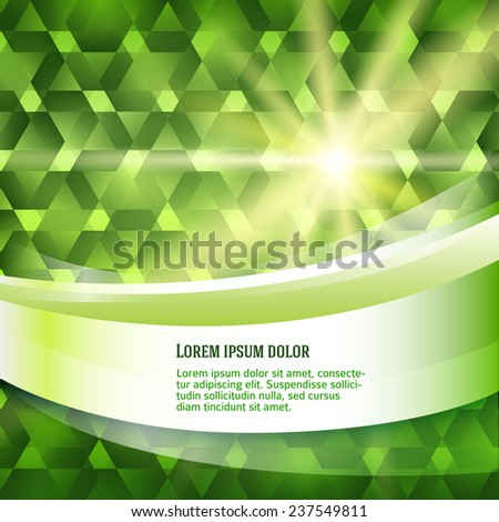 Summer background with green meadow rays summer sun light burst. Hot with space for your message. Vector illustration EPS 10 for design presentation / brochure layout page / cover book or magazine