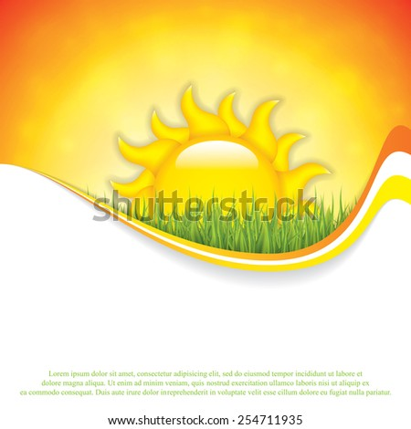 Summer background with place for your content.Vector - stock vector