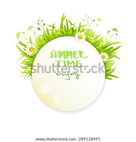 Summer banner design for leaflet, cards, invitation. Place for text. - stock vector