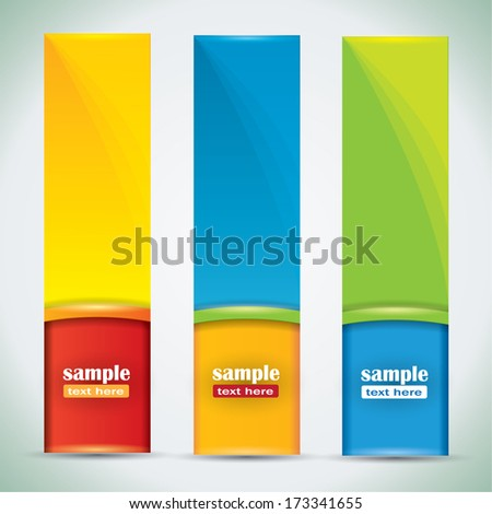 Summer banners - vector illustration with vibrant colors and place for your text - stock vector