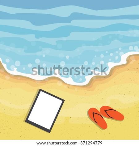 Summer beach. - stock vector