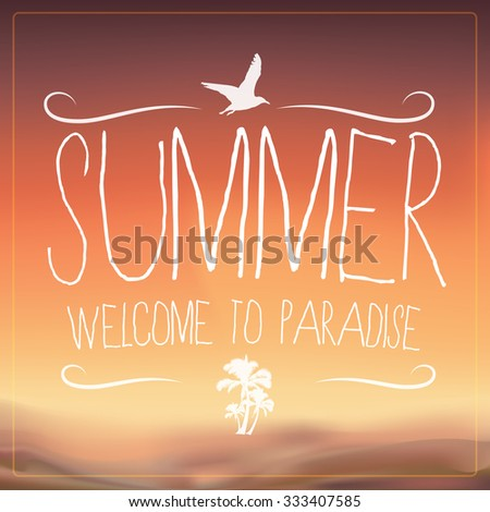 Summer Beach Background - stock vector