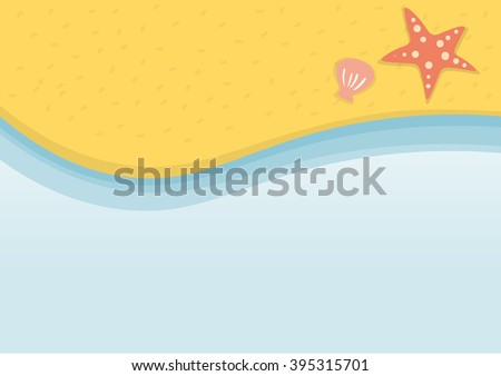 Summer Beach holidays illustration vector background