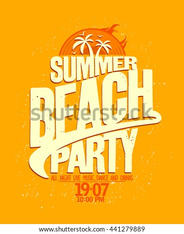 Summer beach party bright yellow design.